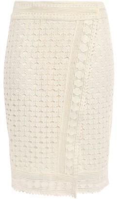 BA&SH Cold Crocheted Cotton Wrap Pencil Skirt