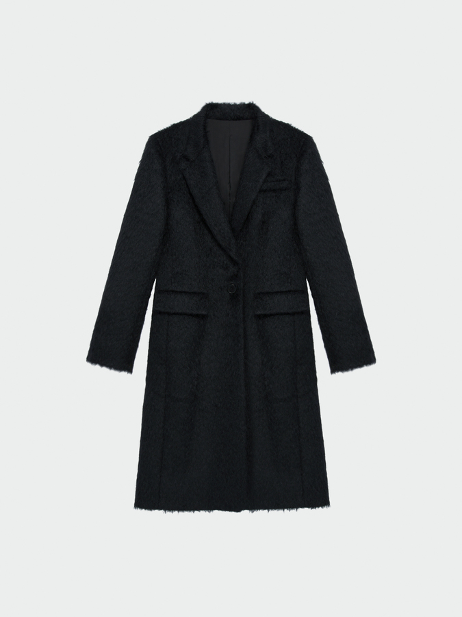 DKNYNotch Collar Fitted Coat