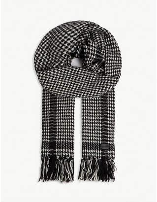 Saint Laurent Etole herringbone wool-blend scarf