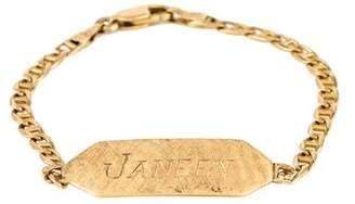 14K ID Link Bracelet