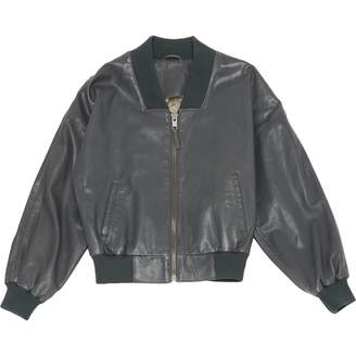 Les Petites Anthracite Leather Leather jackets