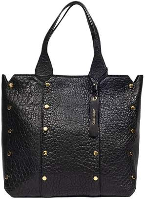 Jimmy Choo Handbag Lockett Bag In Grained Leather With Metal Studs And Double Handles