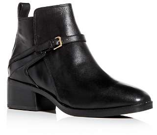 Cole Haan Women's Etta Leather Block-Heel Booties