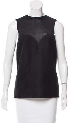 Calvin Klein Collection Silk-Blend Sleeveless Top w/ Tags
