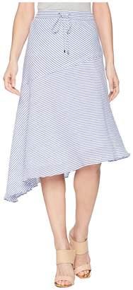 Lauren Ralph Lauren Asymmetrical Cotton Midi Skirt Women's Skirt