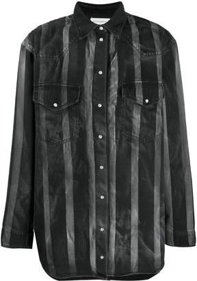 Faith Connexion loose-fit striped shirt