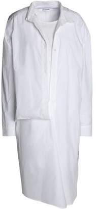 Chalayan Draped Cotton-Poplin Shirtdress