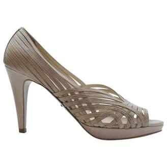 Prada Beige Leather High Heel