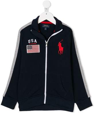 Ralph Lauren Kids zipped track jacket