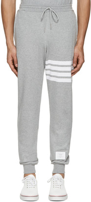 Thom Browne Grey Classic Four Bar Lounge Pants $590 thestylecure.com