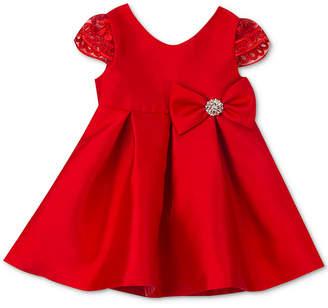 Rare Editions Baby Girls Pleated Cap-Sleeve Dress