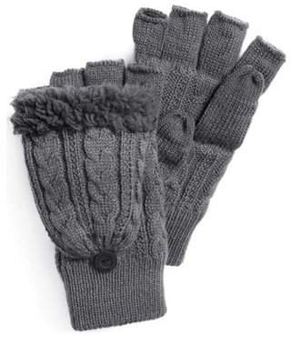 Muk Luks Men's Fingerless Flip Mitten