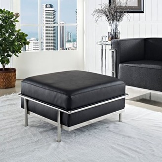 Modway Generic LC3 Leather Ottoman with Steel Frame, Multiple Colors