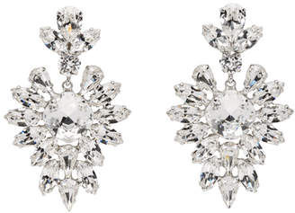 Dolce & Gabbana Silver Crystal Oversized Earrings