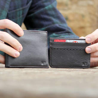 2ff42269e27f The British Belt Company Personalised Leather Wallet And Card Holder Set