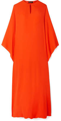 Reem Acra - Draped Silk-georgette Midi Dress - Orange