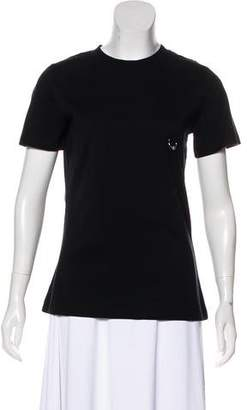 Thierry Mugler Ring-Accented Short Sleeve Top w/ Tags