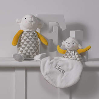 That's mine personalised embroidered gifts Personalised Lamb Baby Comforter And Soft Toy Gift Set