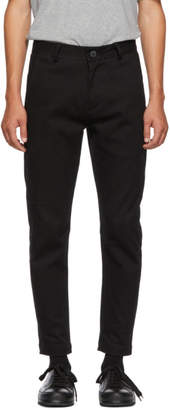 Isabel Benenato Black Woven Trousers