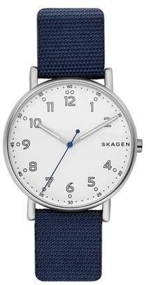 Skagen Signatur Nylon Strap Watch, 40mm