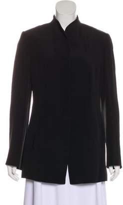 Armani Collezioni Mandarin Collar Blazer