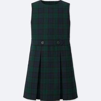 Uniqlo Girl's Checked Jumper Dress