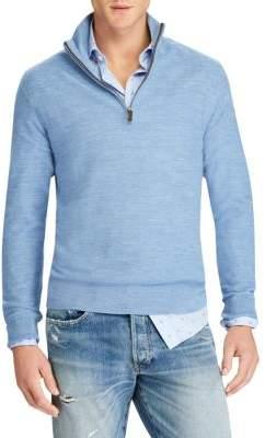 Polo Ralph Lauren Silk& Cashmere Half Zip Sweater