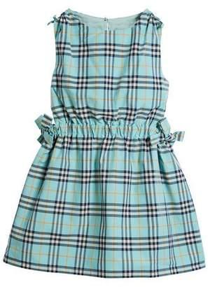 Burberry Candra Cutout Tie Check Dress, Size 4-14