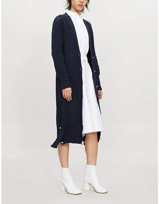 Thom Browne Cable-knit wool and mohair-blend cardigan