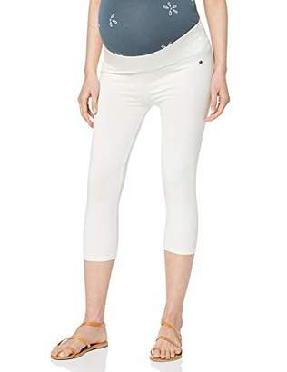 Esprit Women's Utb Capri Maternity Leggings, (White 110), 8 (Size: XS/S)