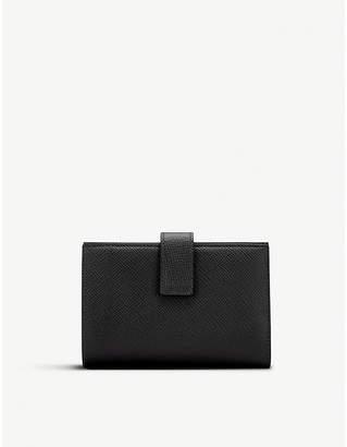 Smythson Panama small cross-grain leather continental purse