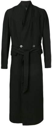 Tom Rebl belted long coat