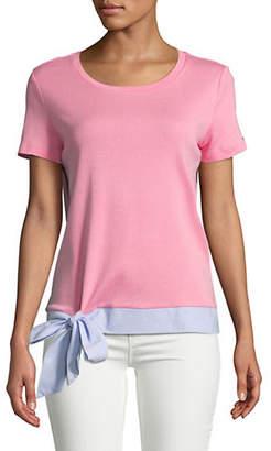 Tommy Hilfiger Tie Hem Cotton Top