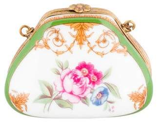 Limoges Porcelain Purse Trinket Box