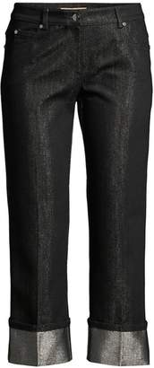 Michael Kors Monogram Cuffed Shimmer Jeans