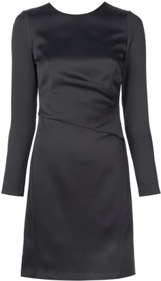 Amsale fitted cut out back dress