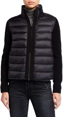 Moncler Cropped Puffer & Wool Cardigan