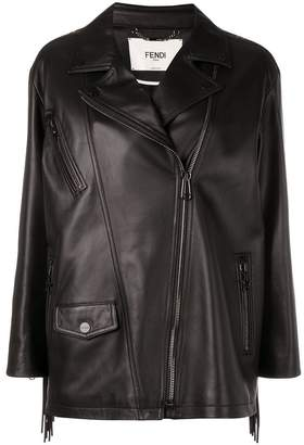 Fendi fringed biker jacket