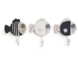 CoCalo Mix & Match Wall Hooks, Fishes, 3 Count by