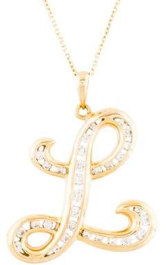 Diamond Initial L Pendant Necklace