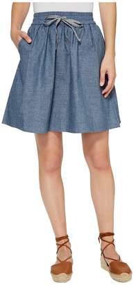 Alternative Chambray Skater Skirt Women's Skirt