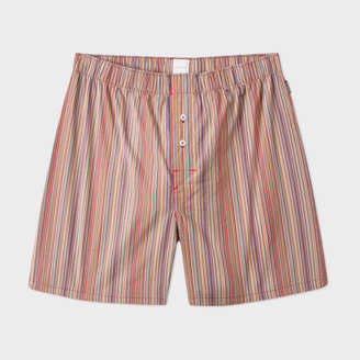 Men's Signature Stripe Cotton Boxer Shorts $65 thestylecure.com