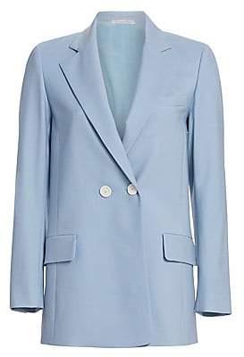 Oscar de la Renta Women's Long Double-Breasted Jacket