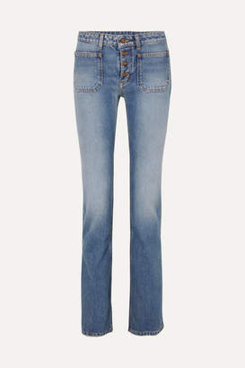Saint Laurent Low-rise Flared Jeans - Indigo
