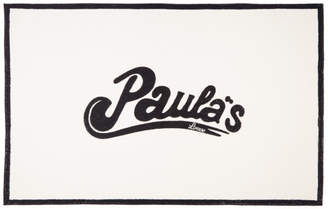 Loewe White and Black Paulas Ibiza Edition Logo Towel