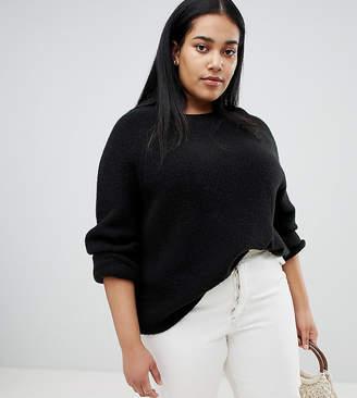 Asos DESIGN Curve fluffy sweater in rib