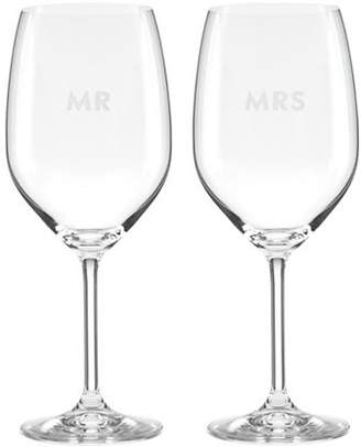 Kate Spade New York Darling Point Two-Piece Wine Glass Set