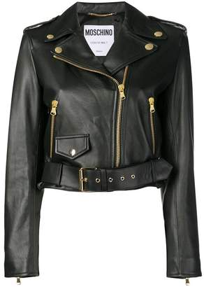 Moschino off-center zipped jacket