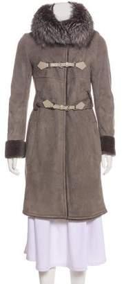 Christian Dior Shearling Knee-Length Coat