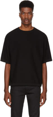 HUGO Black Cotton Mesh Solitor T-Shirt